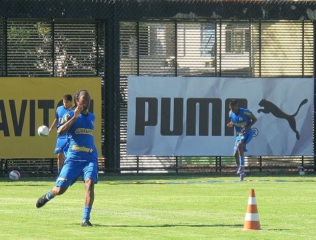 Andrezinho, Elkeson e Maicosuel, treino Botafogo (Foto: Thales Soares / Globoesporte.com)