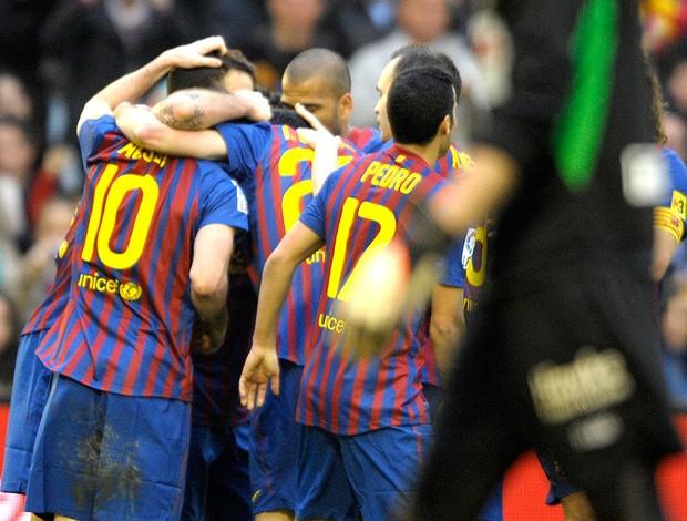 messi barcelona gol racing santander (Foto: Agência AFP)