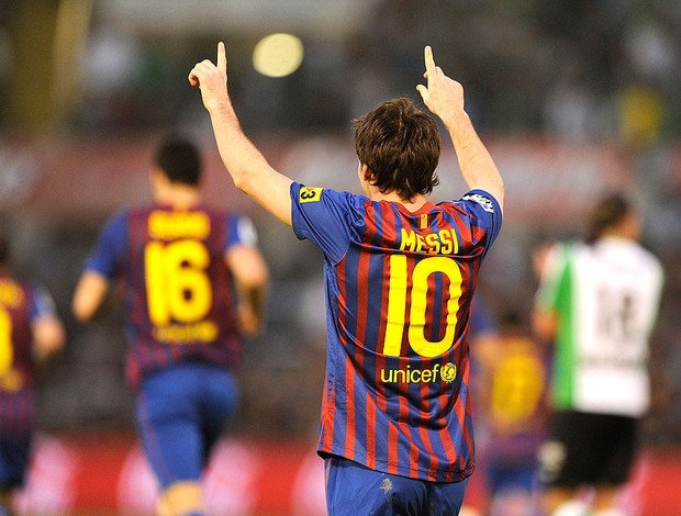 messi barcelona gol racing santander (Foto: Agência Getty Images)