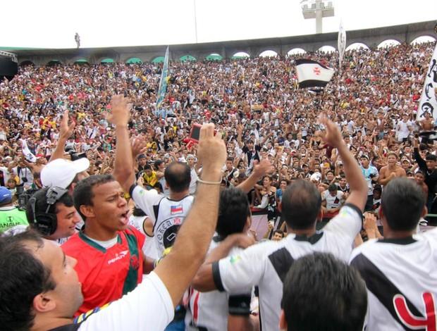 Vasco da Gama e Sampaio Correa do Maranhão na Copa Brasil de futebol de areia torcida final (Foto: Marcos Melgar/Divulgação)