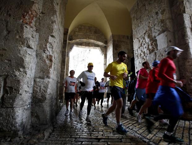 Jerusalém corrida de rua (Foto: AFP)