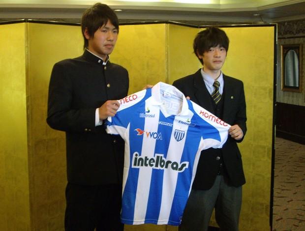 Daiki Kato e Takao Suzuki  - Avaí (Foto: Divulgação / Site oficial do Avaí)