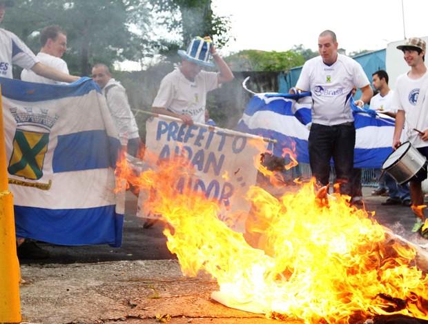 santo andré protesto (Foto: Thales Stadler/ABCDIGIPRESS/Agência Estado)