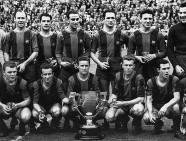 barcelona 1950-53 (Foto: Divulgação/ Site oficial Barcelona)