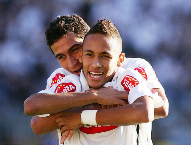 neymar ganso comemoração santos