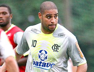 Adriano, treino do Flamengo