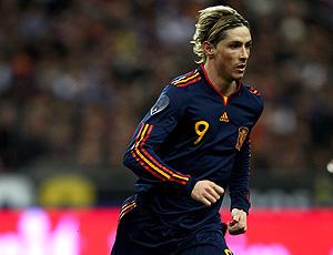 Fernando Torres, com o segundo uniforme da seleção espanhola