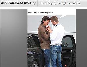 Brincadeira com a foto de Ibrahimovic e Piquè