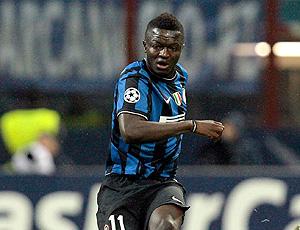 Muntari no jogo do Inter de Milão