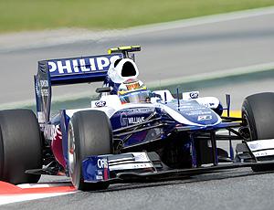 Nico Hulkenberg da Williams no treino de F1