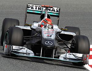 Schumacher treino F1 Espanha