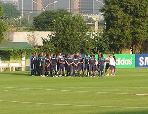 jogadores no treino do Palmeiras