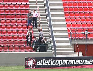 Vistoria na Arena da Baixada, estádio do Atlético Paranaense