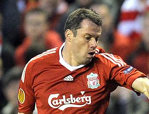 carragher no treino do Liverpool