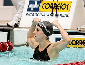 Gabriella Silva em ação no troféu Maria Lenk