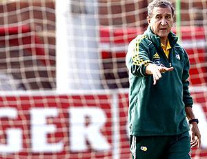 Parreira no treino da África do Sul