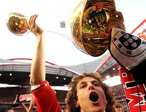 David Luiz comemora título do Benfica