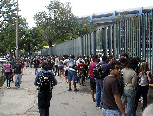 fila de torcedores Flamengo no Maracanã