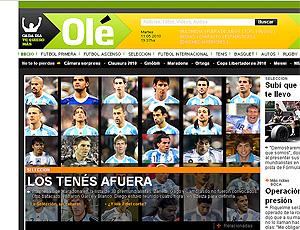 Reprodução, capa do Olé