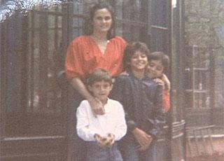 Julio Cesar e família, ainda na infância
