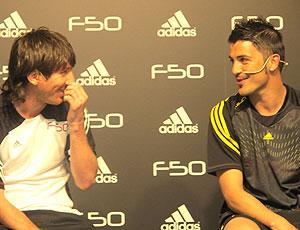 Messi e Davi Villa, em Montemello, Espanha