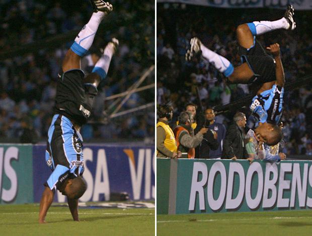 Borges comemora gol com pirueta