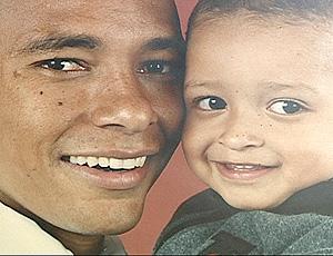 Gilberto Silva e o filho