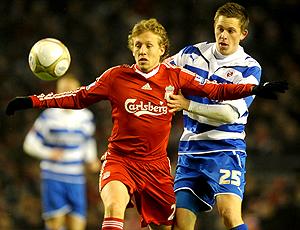 Lucas em ação pelo Liverpool