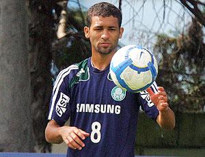 Pierre no treino do Palmeiras