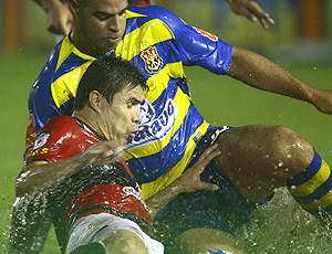 adriano, chuva, Flamengo x Vitória