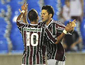 Marquinho comemora, Fluminense x Atlético-go