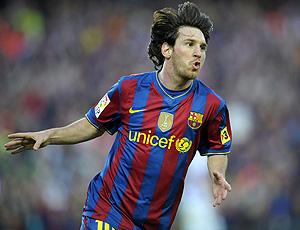 messi comemora gol do barcelona sobre o valladolid