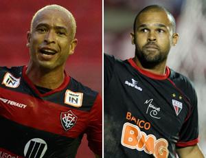 Montagem entre Júnior do Vitória e Márcio do Atlético-GO