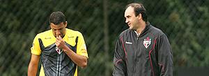 Ricardo Gomes e Washington, treino do são paulo