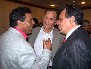 Valdomiro, Manga e Figueroa, durante o evento Encontros do Esporte