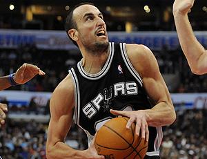 basquete, nba - Manu ginobili em jogo do san antonio spurs