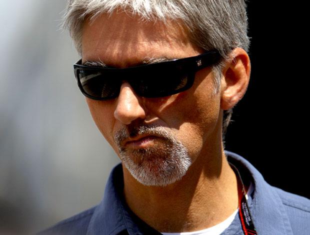 Damon Hill nos boxes