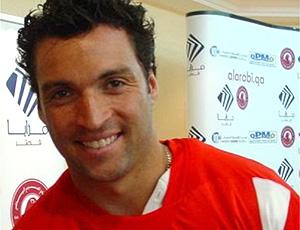 Daniel Carvalho na entrevista coletiva do Al-Arabi