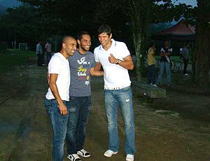 Emerson, Ibson e Fábio Luciano no Ninho do Urubu