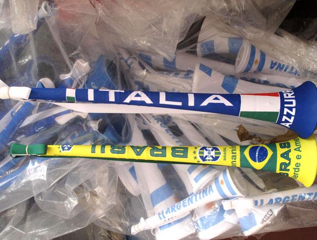 fábrica de vuvuzelas na África do Sul