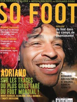 Adriano na capa da revista francesa So Foot