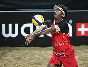 Thiago, parceiro de Pedro Cunha no vôlei de praia