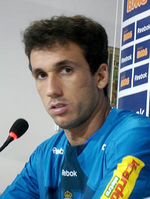 Thiago Ribeiro em coletiva do Cruzeiro