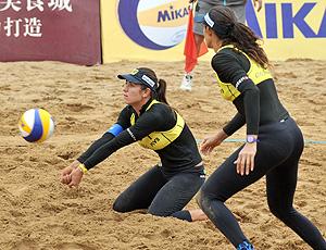 vôlei de praia - talita e maria elisa estréiam com vitória em roma