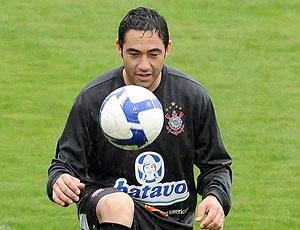 Chicão no treino do Corinthians