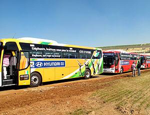 Apresentação dos ônibus das seleções na Copa do Mundo