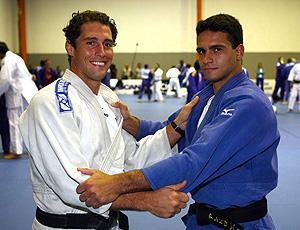 Leandro Guilheiro e Flavio Canto, treino, Grand Slam de judô