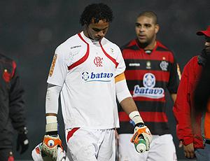 Bruno chateado no jogo do Flamengo