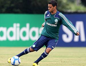 Cleiton Xavier no treino do Palmeiras