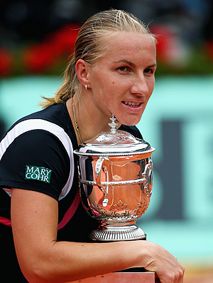 Svetlana Kuznetsova tênis Roland Garros 2009 final troféu